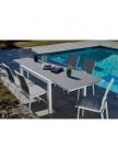 Table de jardin extensible Evian + 6 chaises
