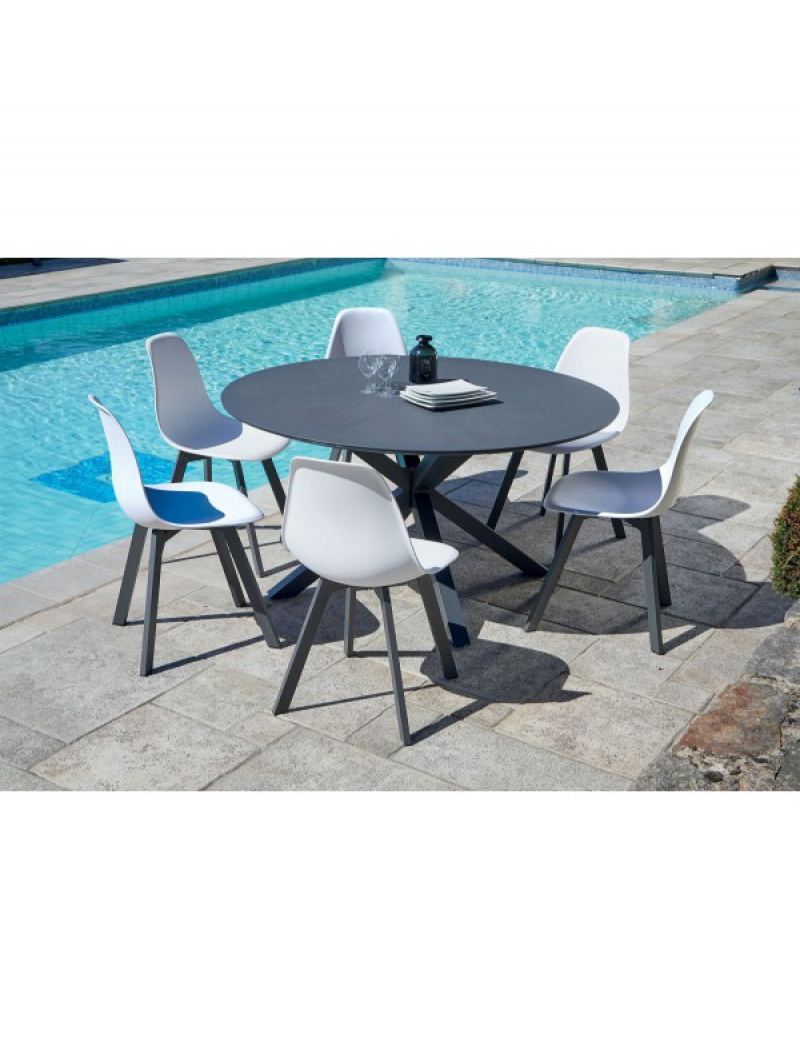 Table de jardin Provence + 6 chaises