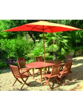 Table de jardin Saigon + 6 chaises