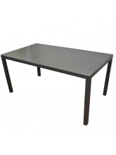 Table Création bronze / taupe plateau ciment fibré
