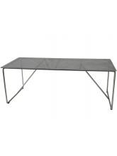 Table Mona inox et plateau verre