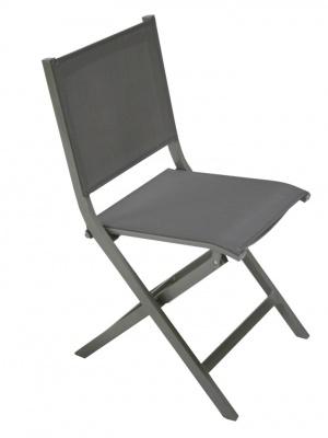 Chaise pliante Thema bronze / taupe