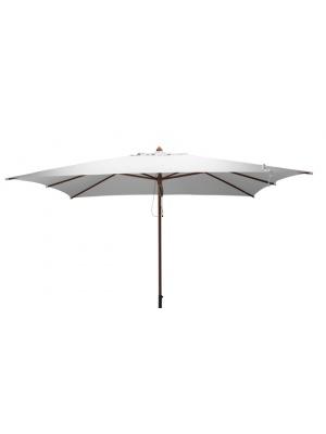 Parasol bois rectangulaire 3x4m Ecru