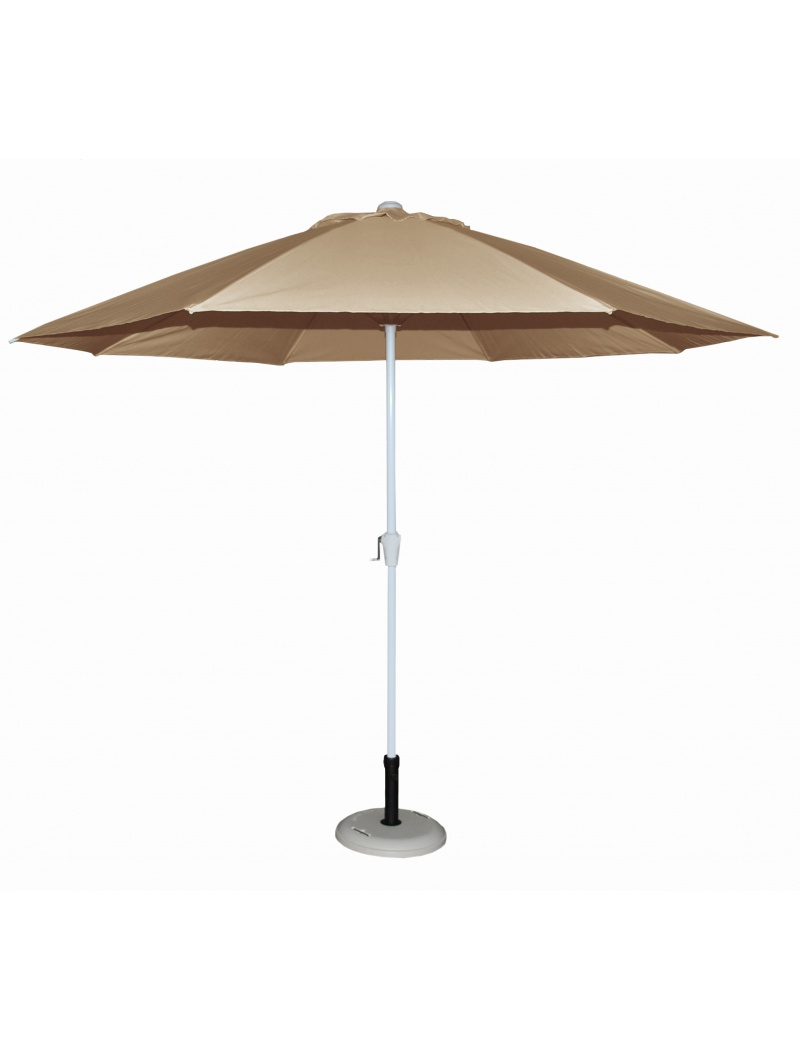 Parasol alu rond 300 taupe