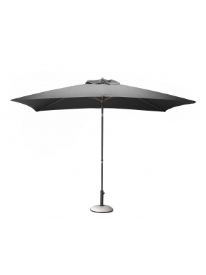 Parasol alu rectangulaire 3x2 gris