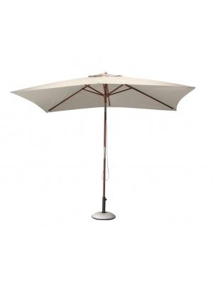 Parasol bois rectangulaire 3x2 écru