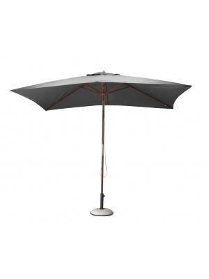 Parasol bois rectangulaire 3x2 gris