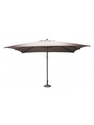 Parasol bois rectangulaire 3x4m Taupe