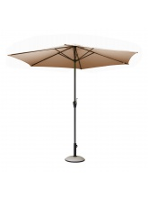 Parasol alu rond 350 Manivelle taupe