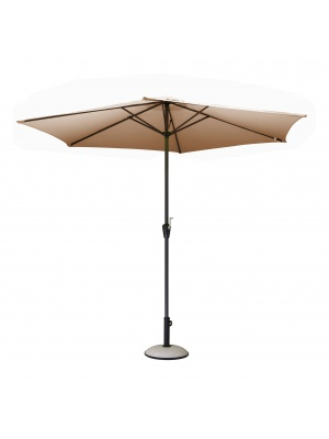 Parasol alu rond 300 Manivelle taupe