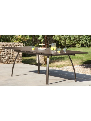 Table Granada 180/240 rouille avec allonge