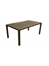 Table Milano Brush en aluminium brun