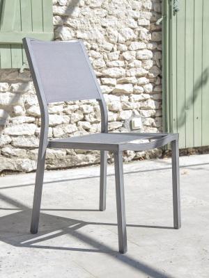 Chaise de jardin Florence Ice Argent
