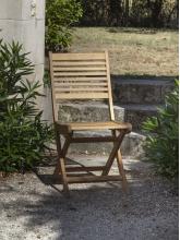 Chaise de jardin Saturne en eucalyptus