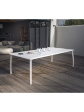 Table Azuro 225 cm blanc sable