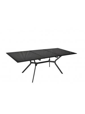 Table Malaga gris royal 180/240 avec allonge