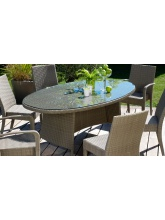 Table Belfort ovale 220 x 110 cm Gris