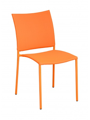 Chaise Globe empilable Orange