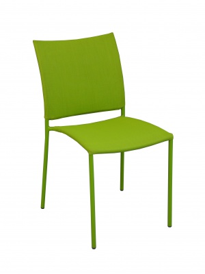 Chaise Globe empilable Vert mousse