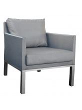 Fauteuil sofa Oslo textilène Gris Argent