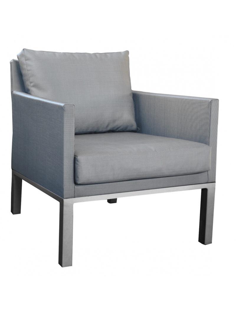 Proloisirs Fauteuil sofa Oslo textilène Gris Argent