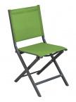 Chaise pliante Thema Gris / Vert mousse