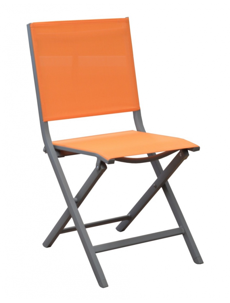 Chaise pliante Thema Taupe / Orange