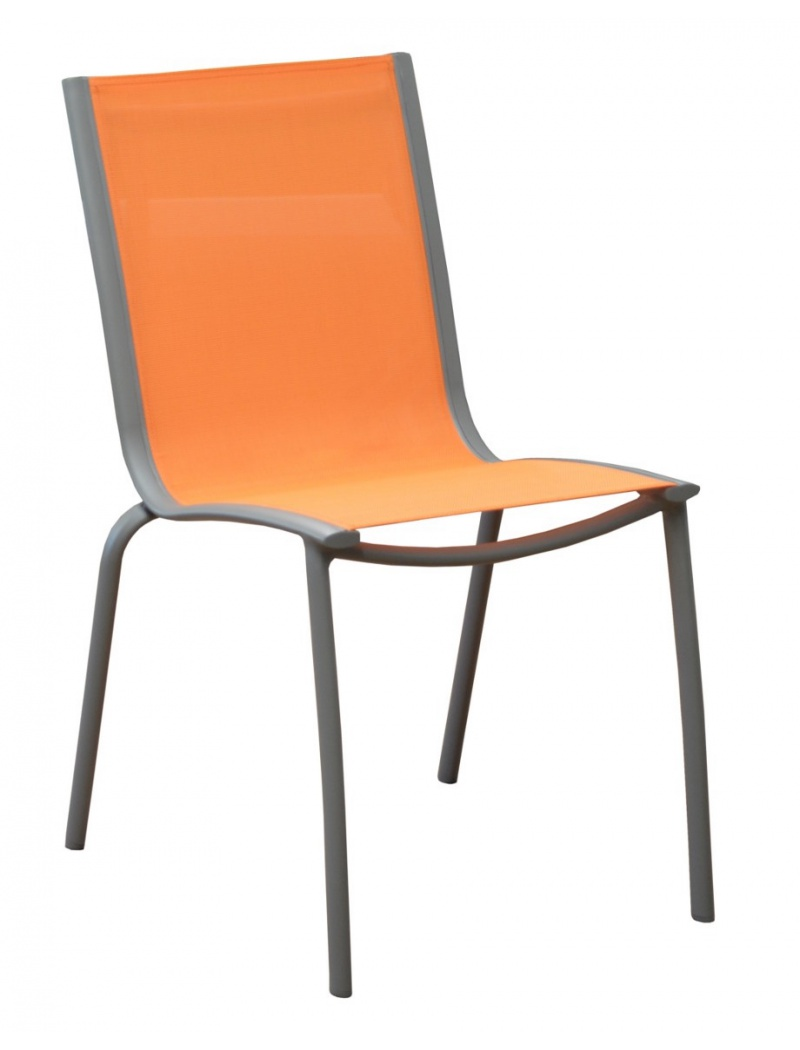 Chaise Linéa Taupe / Orange