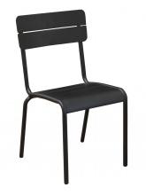 Chaise de jardin Ecole Noir Mat