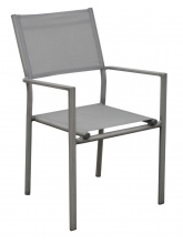 Fauteuil Thema Gris Ice / argent