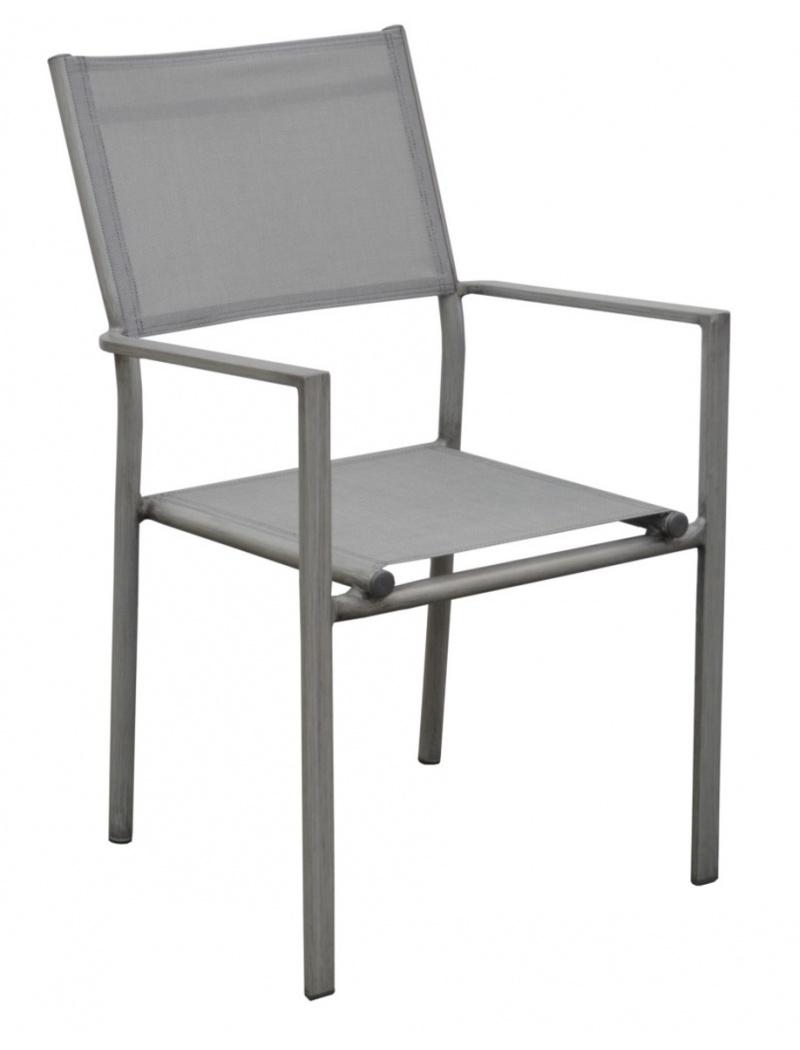 Fauteuil Thema Gris Ice / argent Proloisirs - Chaises & fauteuils ...