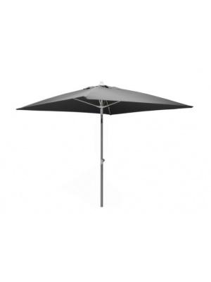 Parasol carré fibre de verre 2x2 gris perle