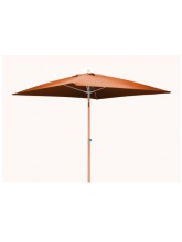 Parasol carré fibre de verre 2x2 Orange