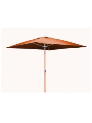 Parasol carré fibre de verre 2x2 Orange