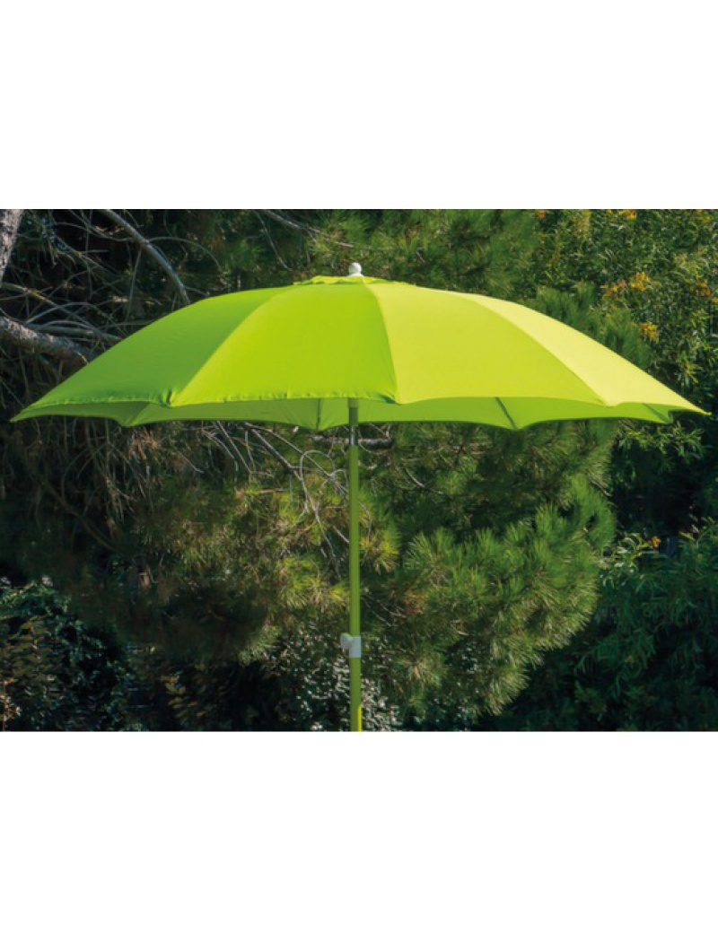 parasol fibre de verre 270 vert citron proloisirs parasol store jardin concept. Black Bedroom Furniture Sets. Home Design Ideas