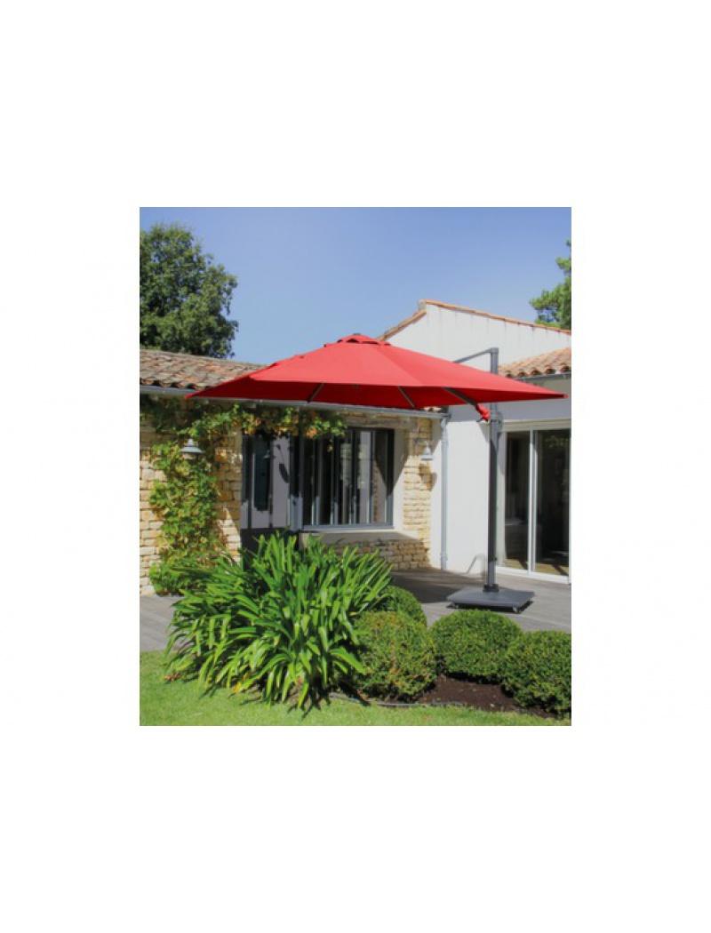 Jardin carr rouge for Jardin concept