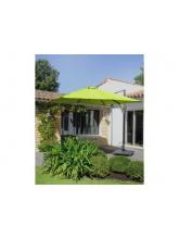 Parasol alu carré déporté 3x3 Vert citron