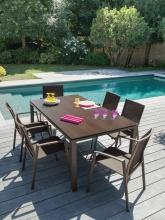 Table Stoneo plateau TRESPA® Café Cedar