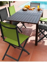 Table Trieste 130/180 Grise avec allonge
