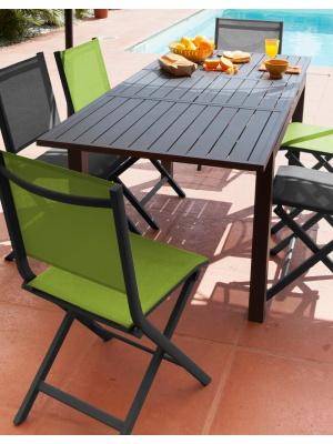 Table Trieste 130/180 Grise avec allonge