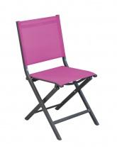 Chaise pliante Thema Gris / Framboise