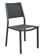 Chaise de jardin Florence Gris / Noir