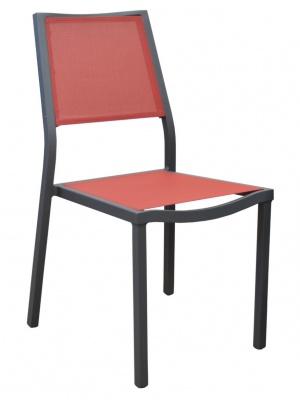 Chaise de jardin Florence Gris / Rouge