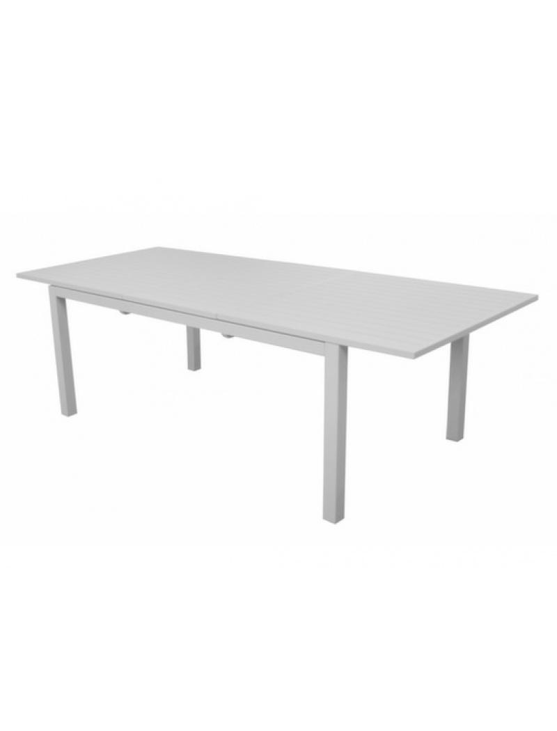 Table Trieste 180/240 Blanche avec allonge Proloisirs - Tables de ...