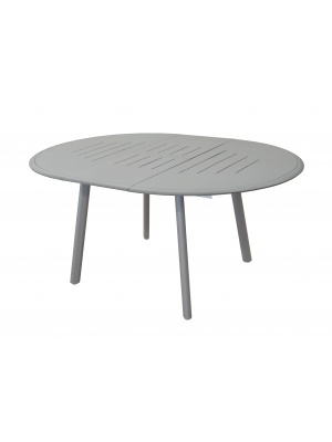 Table Brasa ronde 150/200 Taupe avec allonge