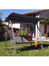 Balancelle Aluminium Café avec toit Proloisirs