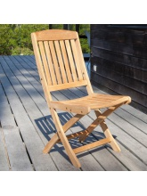 Chaise pliante Macon en teck