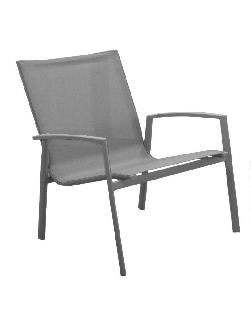 fauteuil bas lounge palma taupe proloisirs fauteuils bas jardin concept. Black Bedroom Furniture Sets. Home Design Ideas