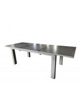 Table Elisa 240 Gris Ice brush avec allonge