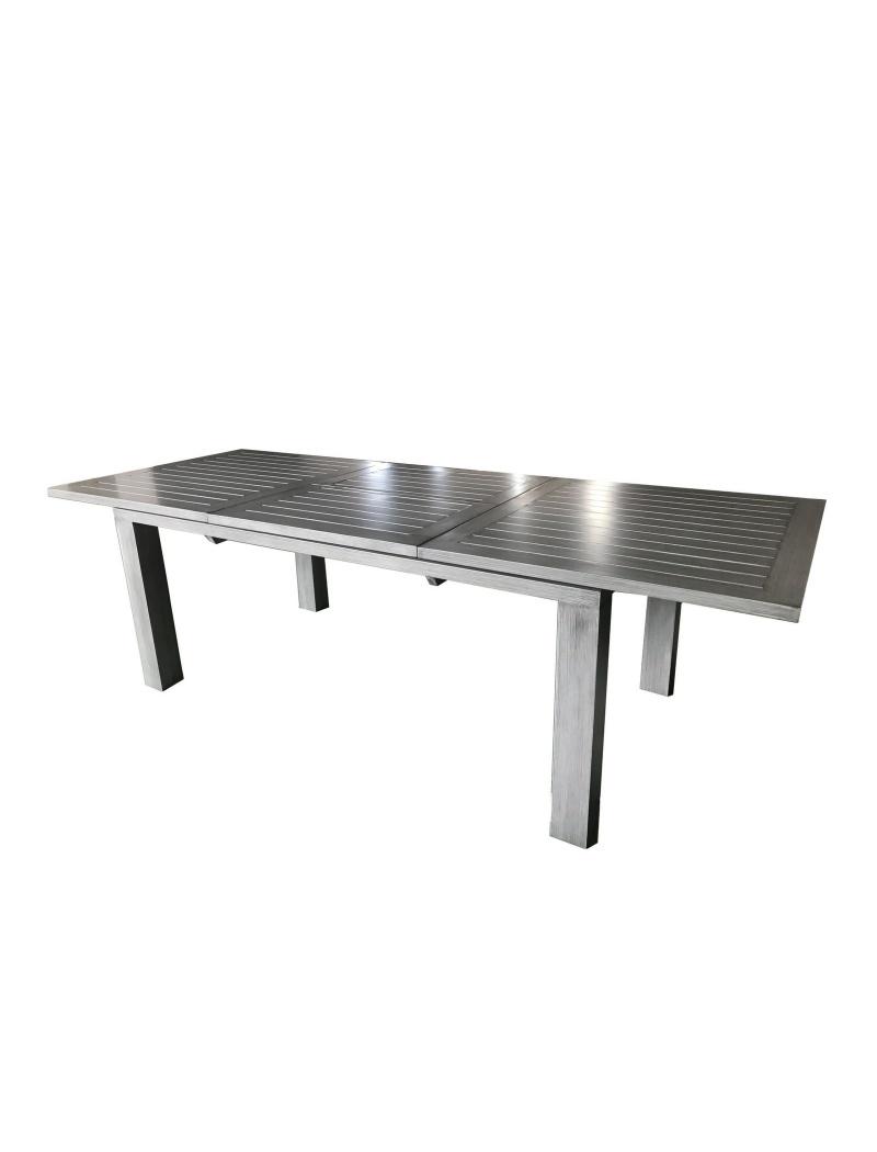 Table Elisa 240 Gris Ice brush avec allonge Proloisirs - Tables de ...